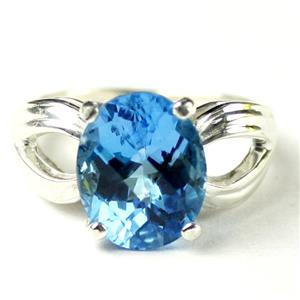SR361, Swiss Blue Topaz, 925 Sterling Silver Ring