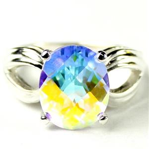 SR361, Mercury Mist Topaz, 925 Sterling Silver Ladies Ring