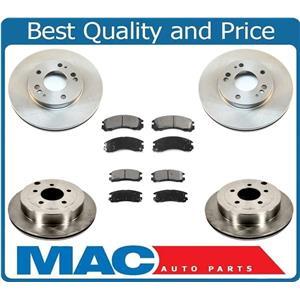 92-96 Diamante Front & Rear Brake Rotors & Ceramic Pads 31003 31005 CD530 CD383