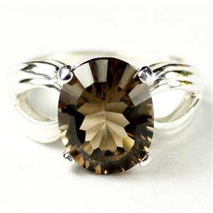 SR361, Smoky Quartz, 925 Sterling Silver Ring