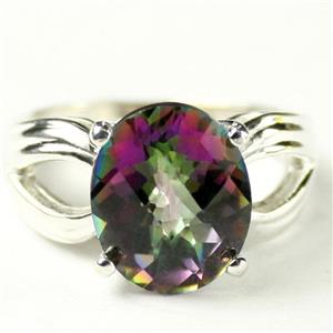 SR361, Mystic Fire Topaz, 925 Sterling Silver Ring