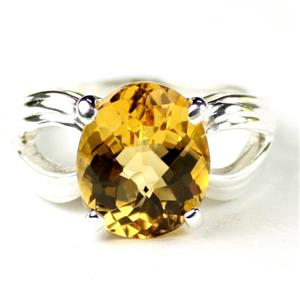SR361, Citrine, 925 Sterling Silver Ladies Ring