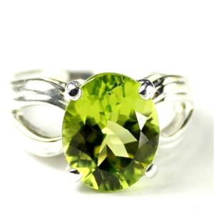 SR361, Manchurian Peridot, 925 Sterling Silver Ladies Ring