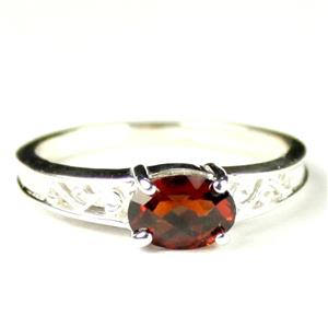 SR362, Mozambique Garnet, 925 Sterling Silver Ring