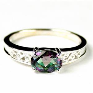 SR362, Mystic Fire Topaz, 925 Sterling Silver Ladies Ring