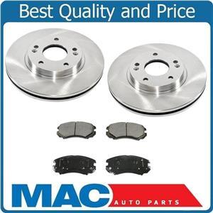 FRONT Brake Rotors & Ceramic Pads Fits for Hyundai Sonata 2.4L 2006-2009 3Pc Kit