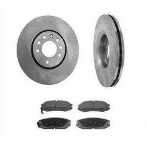 Front Brake Rotors & Pads for 2008 Hyundai Elantra (2) 11 7/8 Inch