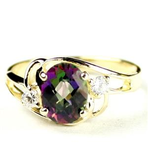R176, Mystic Fire Topaz, Gold Ring