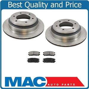Disc Brake Rotor Rear (2) 31084 With Ceramic Rear Pads Fits For 92-02 Trooper