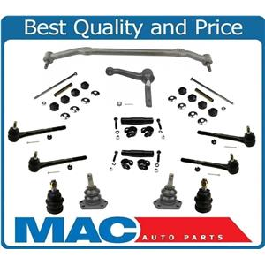 14Pc Ball Joints Tie Rods Center Link Idler Arm Sway Bar For 78-88 Monte Carlo