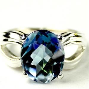 SR361, Neptune Garden Topaz, 925 Sterling Silver Ladies Ring