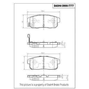 Disc Brake Pad-Ceramic Pads Rear Dash 4 Brake CD900 Fits 04-08 Mazda RX8