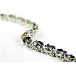 SB001, Mystic Fire Topaz Sterling Silver Bracelet
