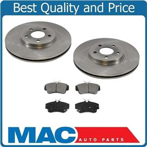 Fits For 01-10 PT Cruiser Non Turbo (2) Front Disc Brake Rotor With Ceramic Pads