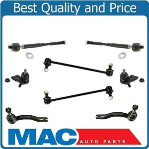 Fits For 03-08 Corolla Lower Ball Joints Tie Rod Ends Frt Sway Bar Links 8Pc Kit