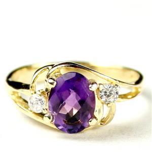 R176, Amethyst, Gold Ring