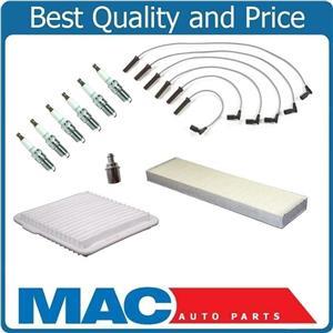 Fits For 05-09 Equinox Plug Wire Set Air Cabin Filter PCV A.C Iridium Plugs 10Pc