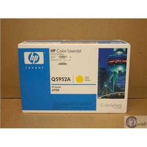 Brand New OEM HP Q5952A Yellow Laser Toner Cartridge Laserjet 4700