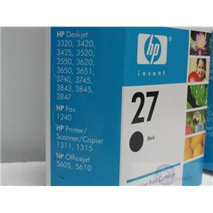 Genuine HP Black 27 Series C8727AN Ink Cartirdge NIB OEM Officejet