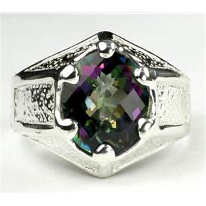 SR234, Mystic Fire Topaz, 925 Sterling Silver Ring