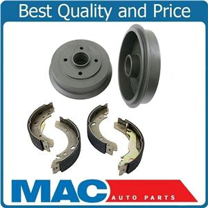 fits For 1992-1996 Elantra Without ABS  (2) Rear Brake Drums & Brake Shoes