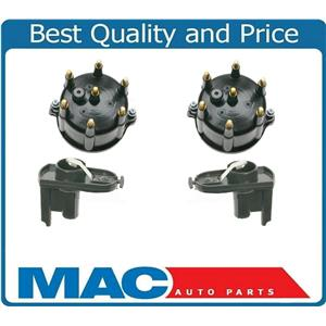 2 Ignition Distributor Caps & Rotors for Jeep Wrangler 4.0L 1994-1999
