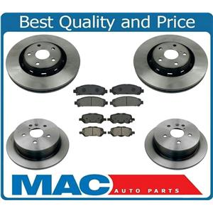 Front & Rear Bake Rotors with Ceramic Brake Pads for Toyota Venza 09-16