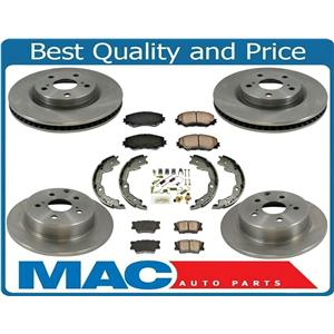 Fits 06-17 Rav4 With 3Rd Row Seat Front & Rr Brake Disc Rotors Ceramic Pads 8pc