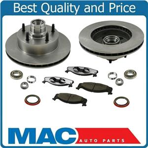 94-02 E150 Ford E150 Van With Rear ABS Only Frt Brake Rotors & Ceramic Pads 9Pc