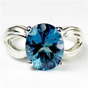 Paraiba Topaz, 925 Sterling Silver Ladies Ring, SR361