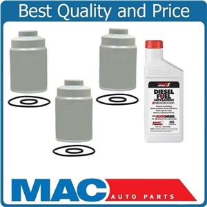 01-15 Chevrolet GMC 6.6 Duramax Diesel 3 Fuel Filters With Conditioner