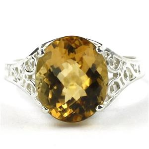 SR057, Citrine, 925 Sterling Silver Ring