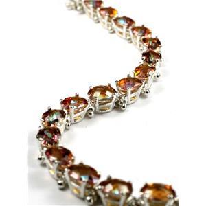 SB001, Twilight Fire Topaz 925 Sterling Silver Bracelet