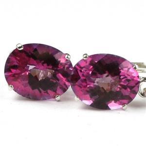 SE107, Pure Pink Topaz, 925 Sterling Silver Earrings