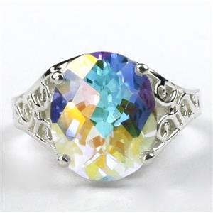 SR057, Mercury Mist Topaz, 925 Sterling Silver Ring