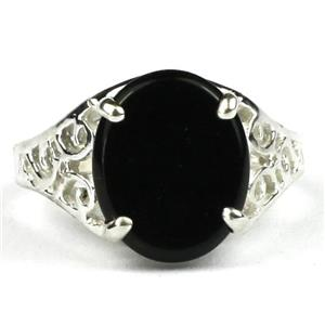 SR057, Black Onyx, 925 Sterling Silver Ring