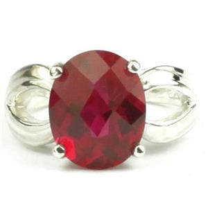 SR361, Created Ruby, 925 Sterling Silver Ring