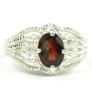 SR365, Mozambique Garnet, 925 Sterling Silver Ring