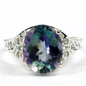 SR057, Neptune Garden Topaz, 925 Sterling Silver Ring