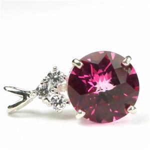 SP087, Pure Pink Topaz, 925 Sterling Silver Pendant