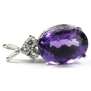 SP016, Amethyst, 925 Sterling Silver Pendant