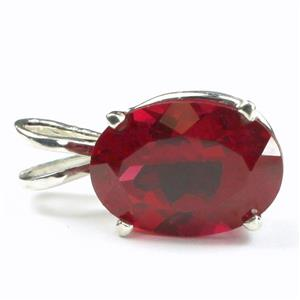 SP006, Created Ruby, 925 Sterling Silver Pendant