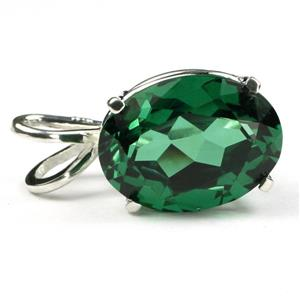 SP006, Russian Nanocrystal Emerald, 925 Sterling Silver Pendant