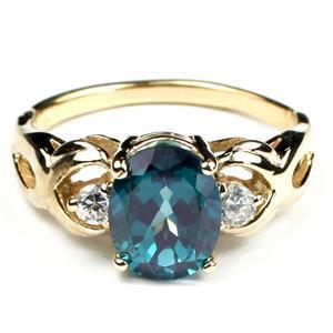 Paraiba Topaz, Gold Ring, R243