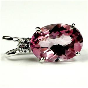 SP019, Pure Pink Topaz 925 Sterling Silver Pendant