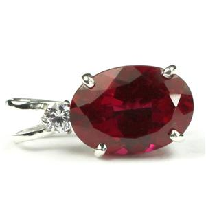 SP019, Lab Ruby, 925 Sterling Silver Pendant