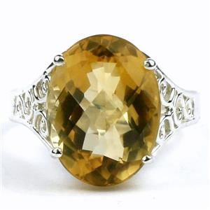 SR049, Citrine, 925 Sterling Silver Ring