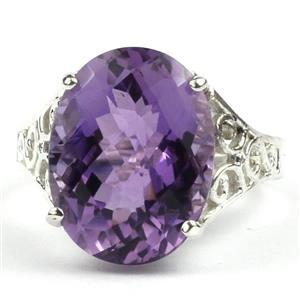 SR049, Amethyst, 925 Sterling Silver Ring