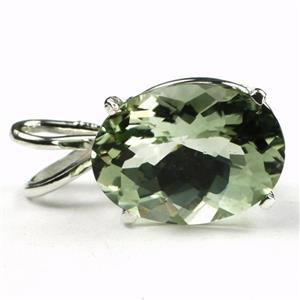 SP006, Green Amethyst 925 Sterling Silver Pendant