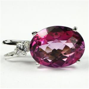 SP085, Pure Pink Topaz, 925 Sterling Silver Pendant